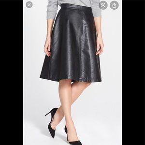 Halogen faux leather skirt Nordstrom